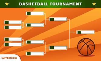 Support de tournoi de basketball vecteur