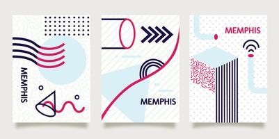 Fond de Memphis sur papier vecteur