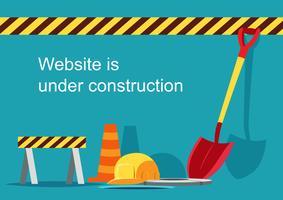 Site en construction vecteur