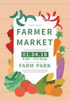 Illustration de Flyer marché fermiers vecteur