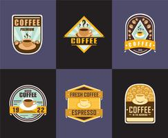 Café Badge Logos vecteur