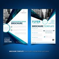 Modèle de conception de flyer de brochure d'entreprise vecteur