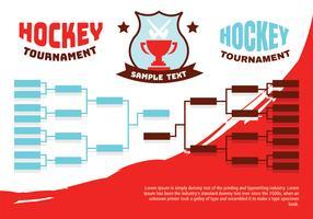 Affiche de support de tournoi de hockey vecteur