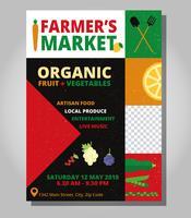 Modèle de Flyer de marché du fermier