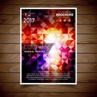 Modèle de conception de brochure abstraite de couleur claire vecteur