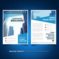 Modèle de Brochure de bleu élégant vecteur