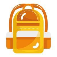 icône de style isolé de sac d & # 39; école