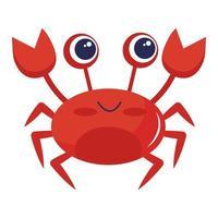 mignon petit personnage kawaii animal crabe vecteur