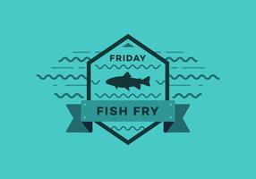 Insigne de vecteur Fry Fish Fry