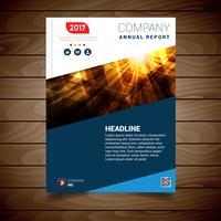 Modèle de conception de brochure de rapport abstrait moderne vecteur