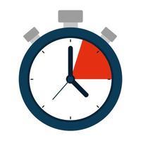 Icône isolé appareil chronomètre minuterie vecteur
