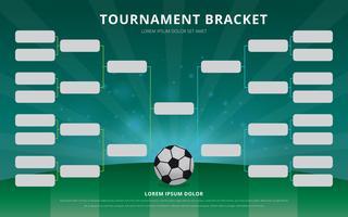 Modèle d'Affiche de support de tournoi de football vecteur