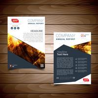 Modèle de conception de brochure de rapport de l'année moderne vecteur