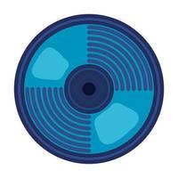 icône de périphérique audio de disque compact vecteur