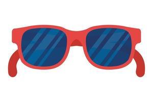 icône d'accessoire optique lunettes de soleil d'été vecteur