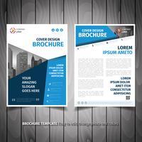 Conception de flyers de brochures commerciales vecteur
