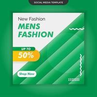 modèle de médias sociaux de mode hommes. vecteur premium