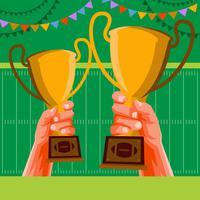 Football Party Invitation Illustration de fond vecteur