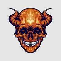 corne de crâne de diable rouge