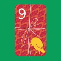 cadeau de Noël au-dessus de l'illustration vectorielle plane