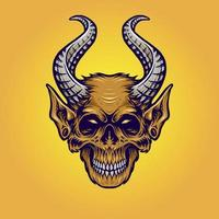 illustration de singe de corne de monstre