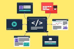 illustration vectorielle de développement web