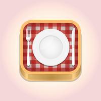 Icône de l'application pour le dîner vecteur