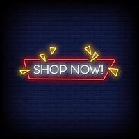 magasiner maintenant vecteur de texte de style enseignes au néon
