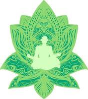 fitness, silhouette plate yogi vecteur
