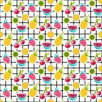 modèle vectorielle continue de patches de fruits vecteur