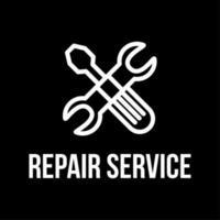 création de logo vectoriel plat service de réparation