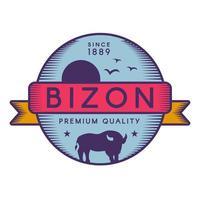 modèle de logo vectoriel bizon