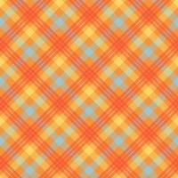 modèle vectorielle continue de couleur orange tartan vecteur