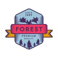 modèle de logo couleur forêt