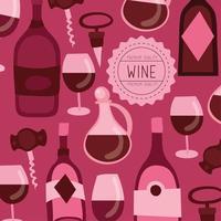 fond de motif de qualité premium vin vecteur