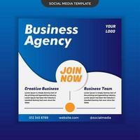 modèle d'agence commerciale de médias sociaux. facile à modifier et à utiliser. vecteur premium
