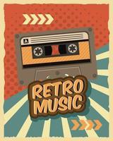 ancienne affiche de cassette rétro vecteur