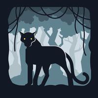 Illustration de la panthère noire vecteur
