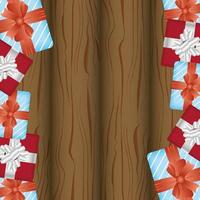 carte de joyeux noël avec cadre de cadeaux