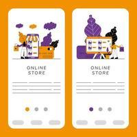 ensemble de bannière de boutique en ligne