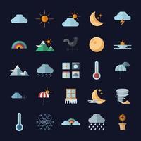 conception de vecteur de paquet de symbole météo