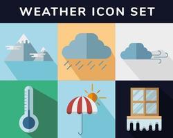 jeu d'icônes météo vecteur