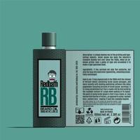 conception d'emballage de cosmétiques, conception d'étiquettes d'huile de barbe, conception de modèle d'emballage, conception d'étiquettes, modèle d'étiquette de conception de maquette d'huile de barbe préparé pour l'impression réelle vecteur