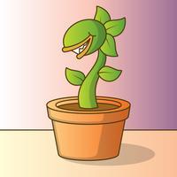 Illustration de dessin animé mignon Venus Flytrap vecteur