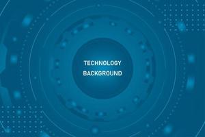 technologie abstraite fond bleu vecteur