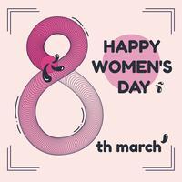 Vecteur de la journée des femmes heureux abstrait