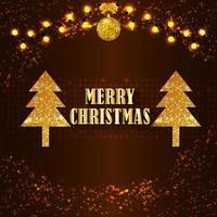 carte de voeux de sapin de Noël