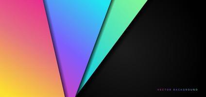 modèle abstrait géométrique couleur vibrante avec fond de texture. vecteur