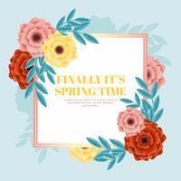 Bannière de printemps de vecteur