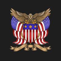 vecteur d'illustration emblème aigle américain